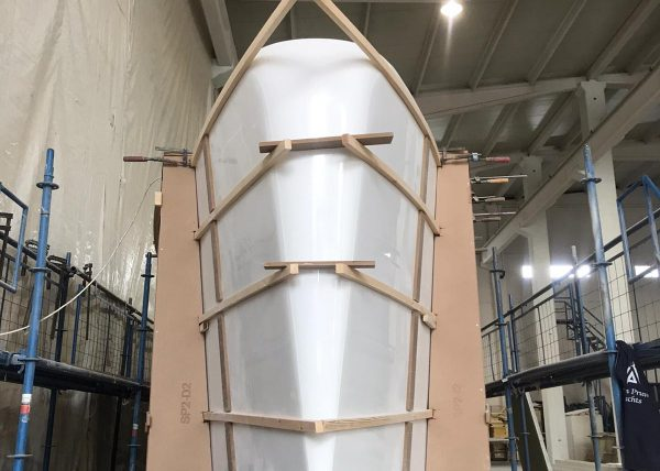 Ocean Beast Hull Ready To Be Mounted